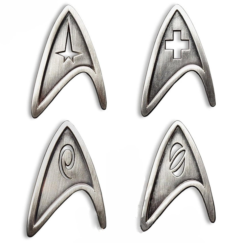 Star Trek Bathroom Accessories Amazoncom Star Trek Cosplay Brooch Starfleet Division Metal