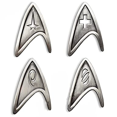 Star Trek Cosplay Brooch Starfleet Division Metal Badge Replica … (4  Divsion)