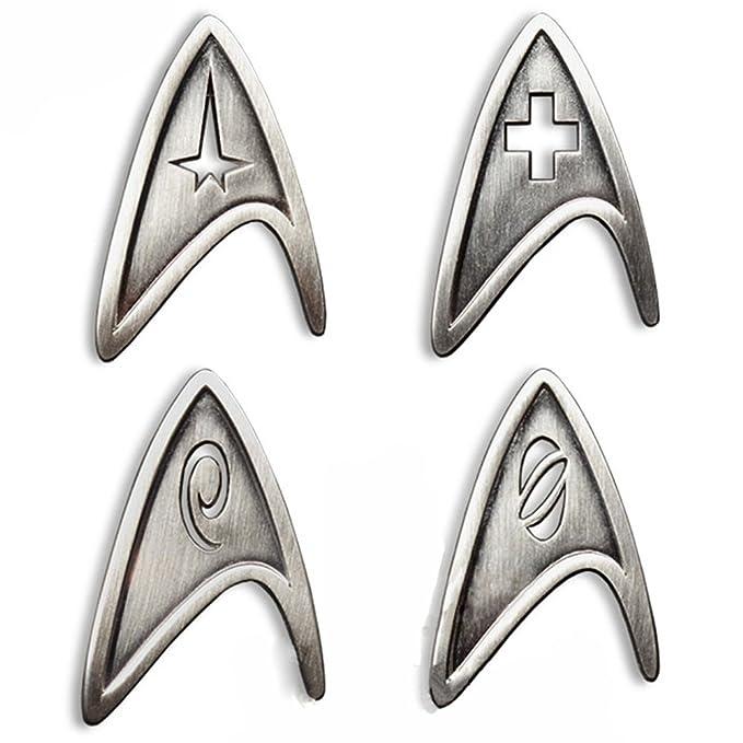 Amazon Star Trek Cosplay Brooch Starfleet Division Metal Badge