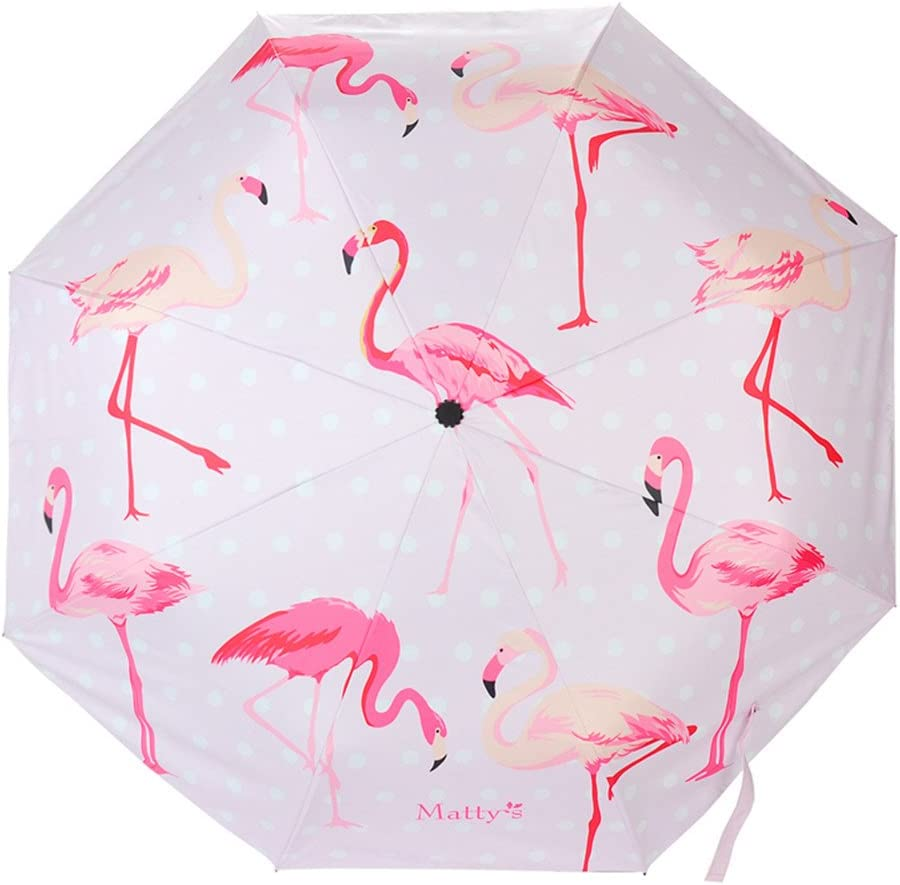 Flamingo Printed Pink Fashion Schirme Portable Travel Brolly Regenschirm kreative Geschenke