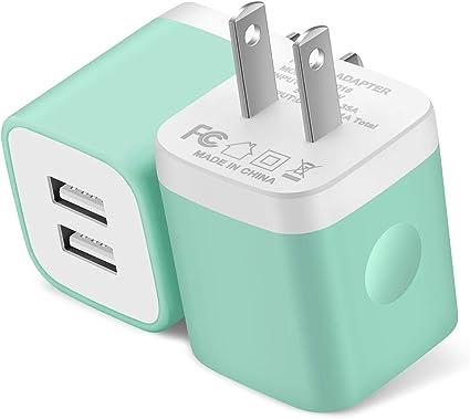 Amazon.com: Cargador de pared USB Power-7, paquete de 2 ...