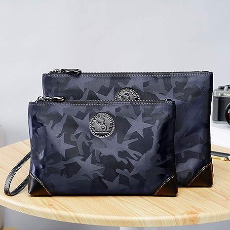 Bolsos De Mano Hombre Lona Oxford Clutch Bag Underarm Bag Negocios Billetera Mu?eca Embrague,Organizador De Tarjetas De Billetera Portátil con Pulsera para ...
