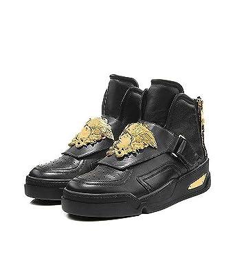 Goldfarbener Medusa Schuh Mit Vitello Versace Sneaker Applikation lJK1TFc