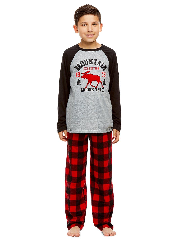 Boys 2 Piece Pajama Set   Long Sleeve Print Top & Jogger PJ Pants Jellifish Kids