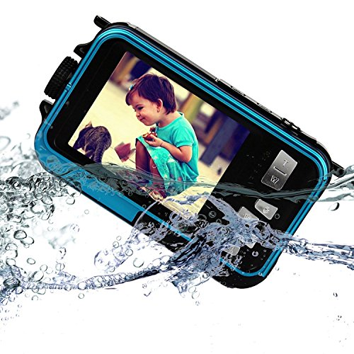 KINGEAR Screens Waterproof 2 7 Inch Camera Blue
