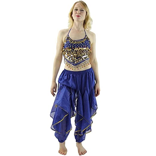 cd41464ebc67 Amazon.com  Danzcue Hot Chilli 2-Piece Belly Dance Costume(Belt Not ...