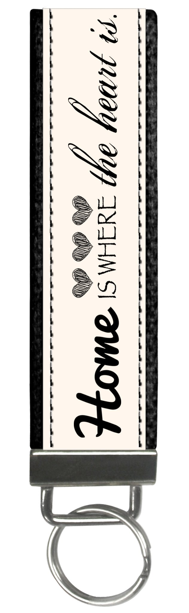 Snaptotes Trendy Motivational Home is where your Heart is Wristlet Keychain by Snaptotes (Image #1)