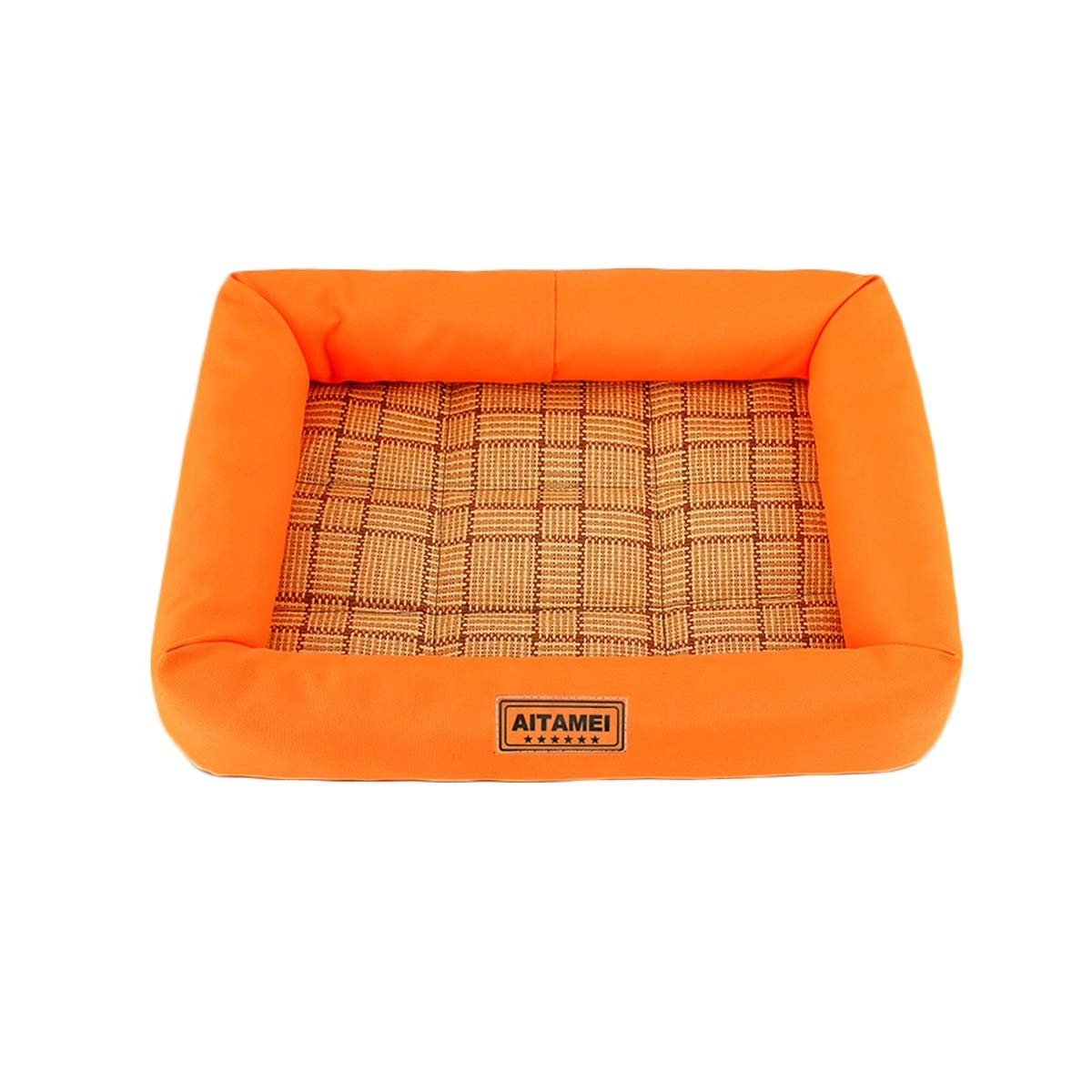 orange L orange L Pet Kennel Dog Sleep Bed Cat Comfortable Padded Soft Mat (color   orange, Size   L)