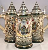 King-Werks Deutschland Shield Rothenburg German Beer Stein 0.4 Liter
