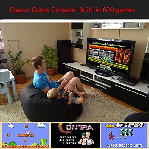 Leoie Mini Retro Classic Game Consoles Built-in 620 Childhood Classic TV Video Games Dual Control 8-Bit Console Handheld Game Player (British regulations) by Leoie (Image #4)