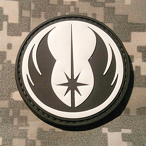 Star Wars Jedi Order Galactic Republic Patch - PVC Morale Patch, Velcro Backed Morale Patch, Star Wars Morale Patch by NEO Tactical Gear (Black and White) (Ps2 Chess)