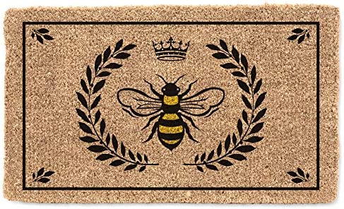 Abbott Collection Coir Bee in Crest Doormat Extra Large