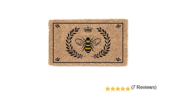 ABBO7 35-FWD//LM 512 Collection Coir Bee in Crest Doormat Abbott