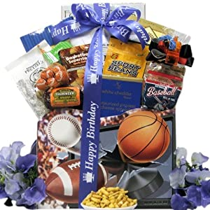Great Arrivals Armchair Athlete, Birthday Sports and Snack Gift Basket