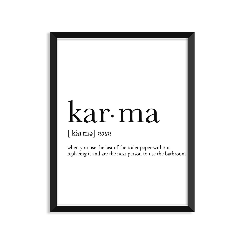 Amazon Karma Definition College Dorm Room Decor Dorm Wall Art