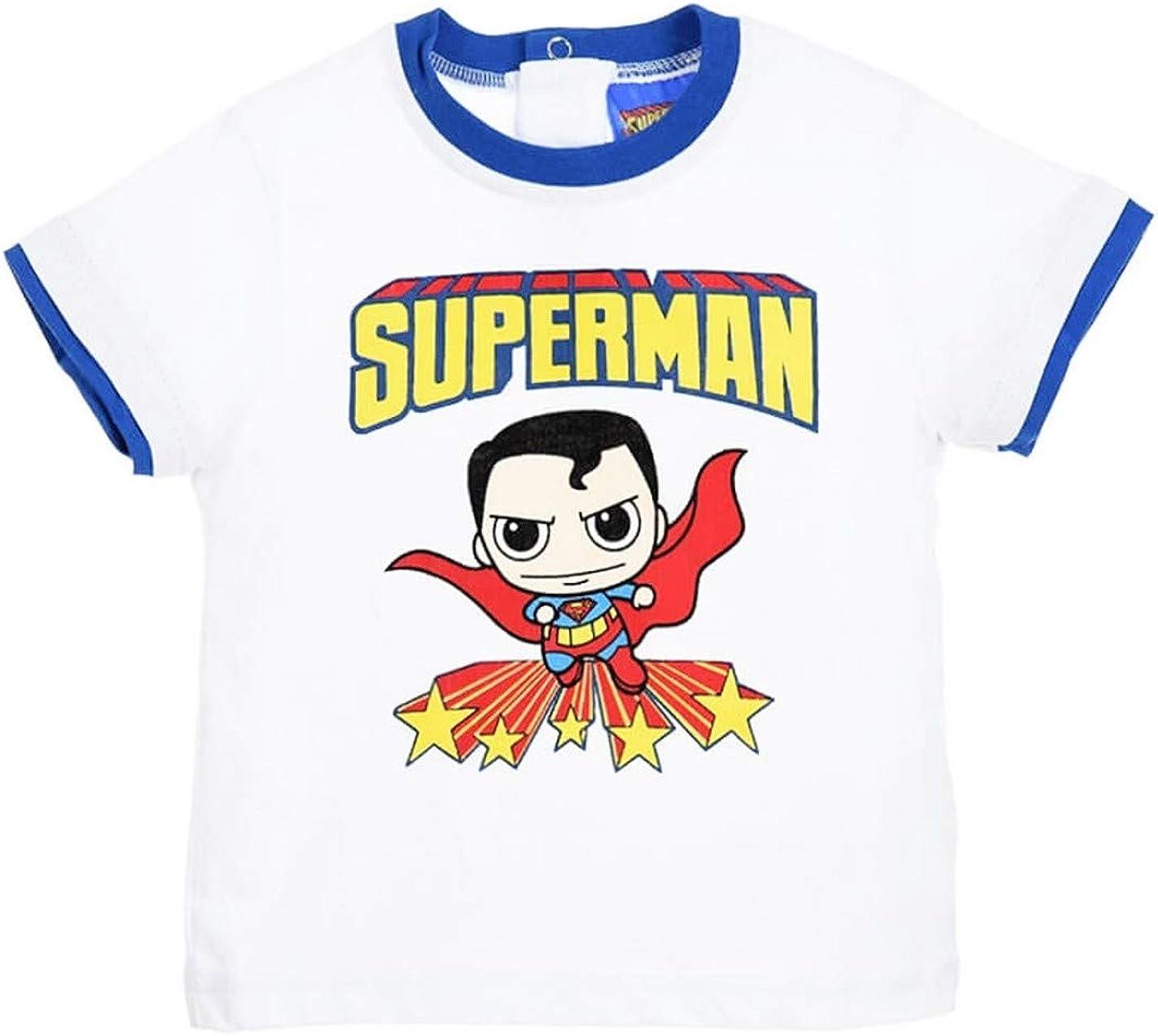 Superman T-Shirt Manches Courtes b/éb/é Blanc de 6 /à 24mois