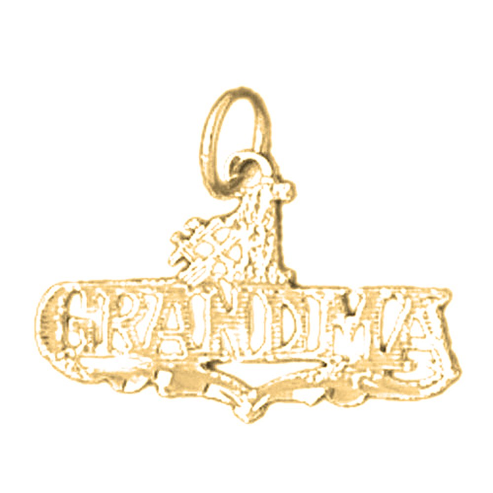 JewelsObsession Sterling Silver 20mm Grandma Charm w//Lobster Clasp
