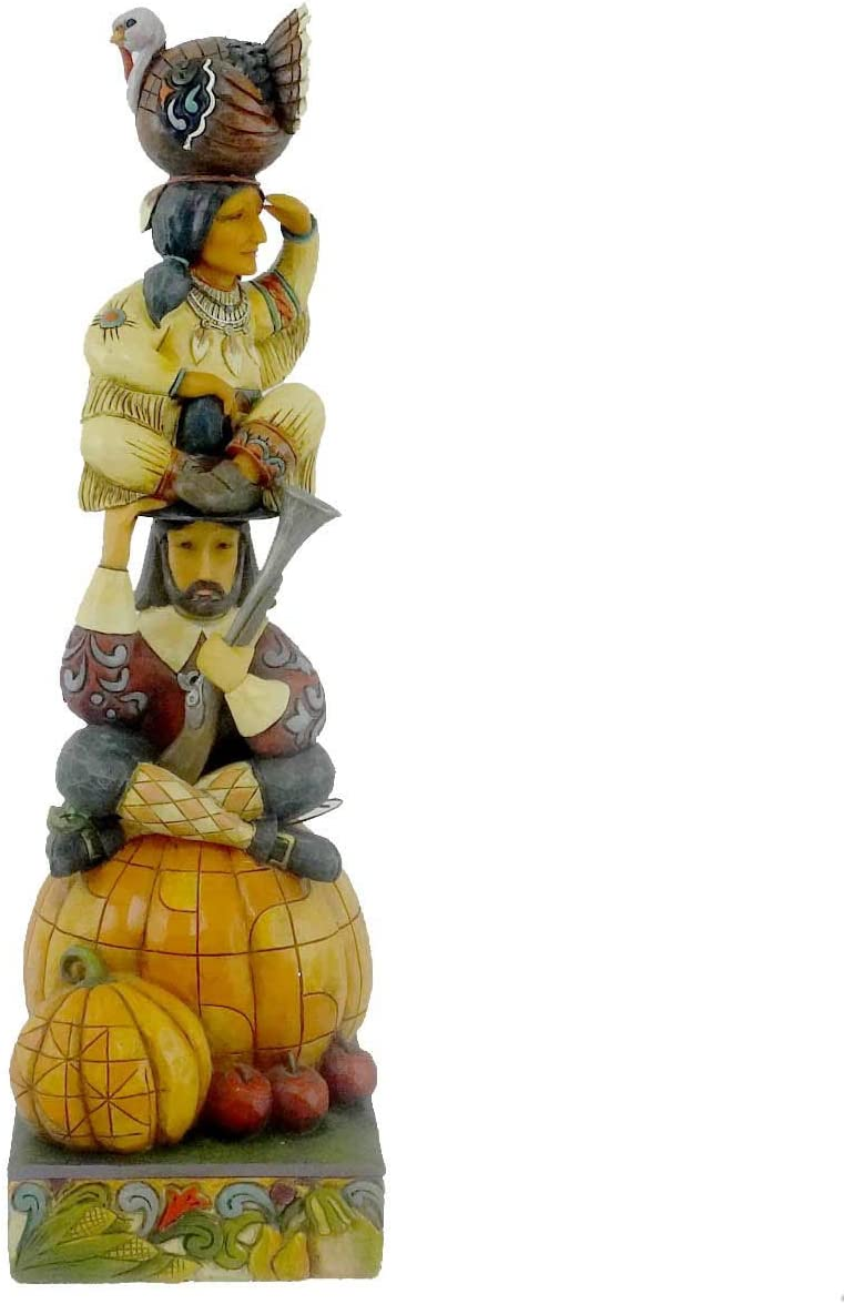 Jim Shore Totem Americana-Stacked Harvest Scene Figurine