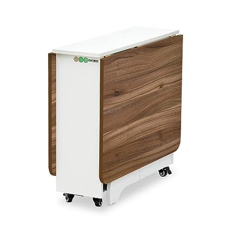 Amazon.com: Mesa de comedor moderna cuadrada de madera ...