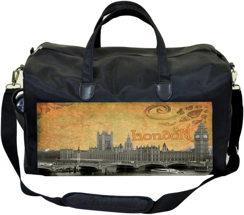 Vintage London Big Ben Print Design Gym Bag