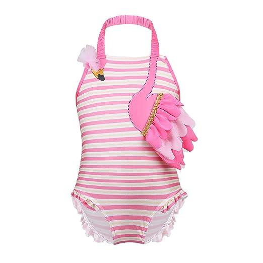 Amazon.com: MSemis Infant Baby Girls One Piece Halter Neck ...