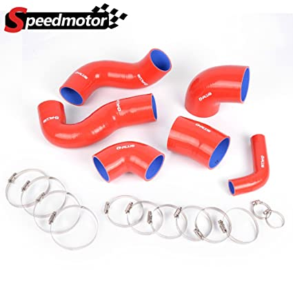 Silicone Turbo Hose Clamps Kit For FIAT COUPE 2.0 20V GT TURBO Red