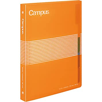 Kokuyo Campus Slide Binder - B5 - 26 Rings - Orange [Office Product]