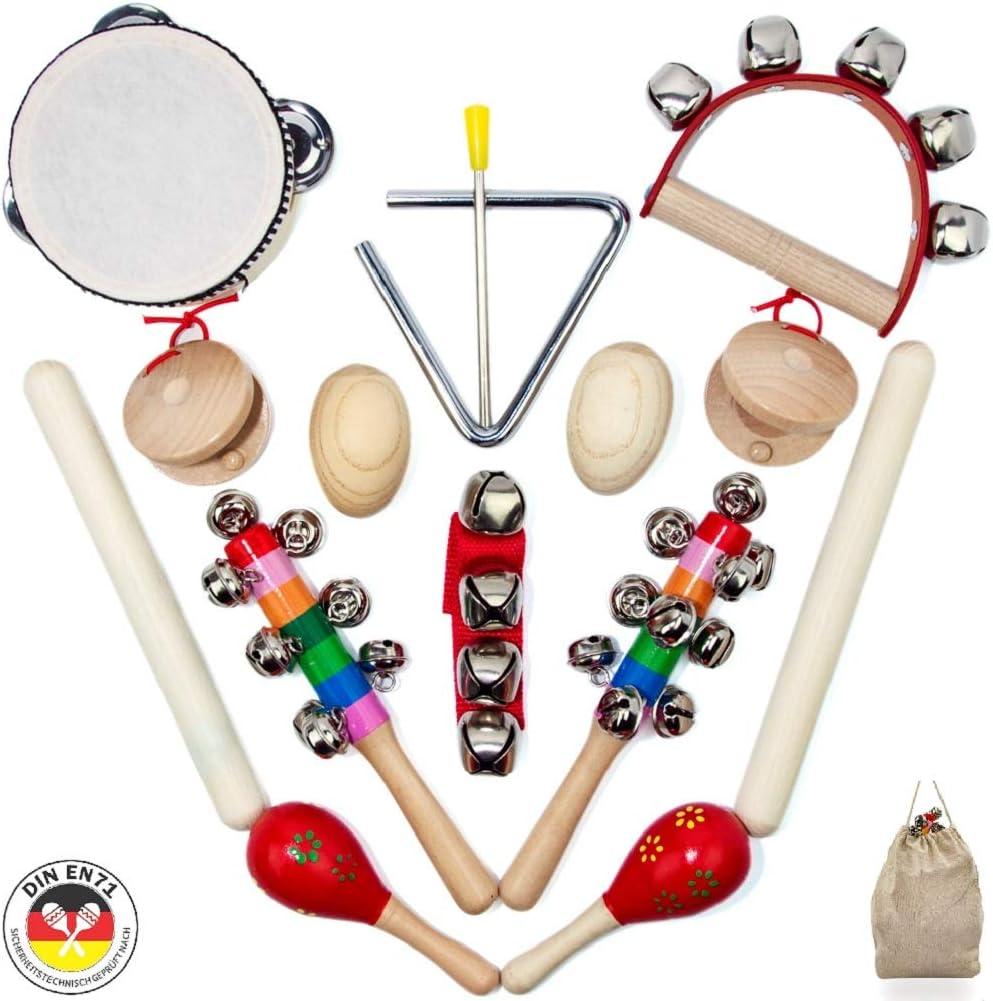 SCHMETTERLINE® Set de instrumentos musicales para niños - Juguetes ...