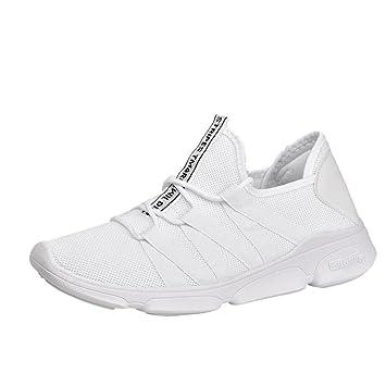 WWricotta LuckyGirls Zapatillas de Correr Hombre Casual Moda Cómodas Calzado para Deporte Zapatos con Cordones Bambas de Running Deportivas Al Aire Libre ...