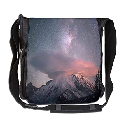 9982b3fc12a Image Unavailable. Image not available for. Color  HUHW Single-Shoulder Bag  Clouds On The Snowy Mountains Canvas Satchel Bag Shoulder Bag Crossbody
