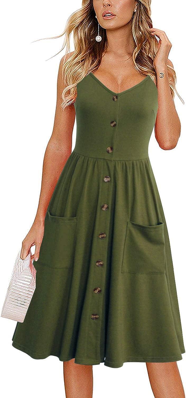 casual green summer dress