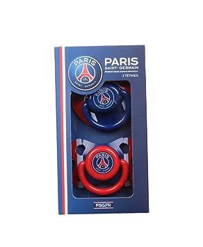 Un lot de 2 tétines Paris Saint Germain - bleu - bébé mixte  Amazon ... 686b7993176