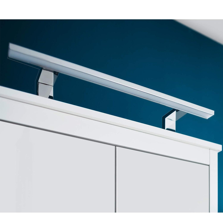 trendteam 1100-226-00 Luminaire de Salle de Bains et boîtier Interrupteur/Prise pour Armoire avec Miroir