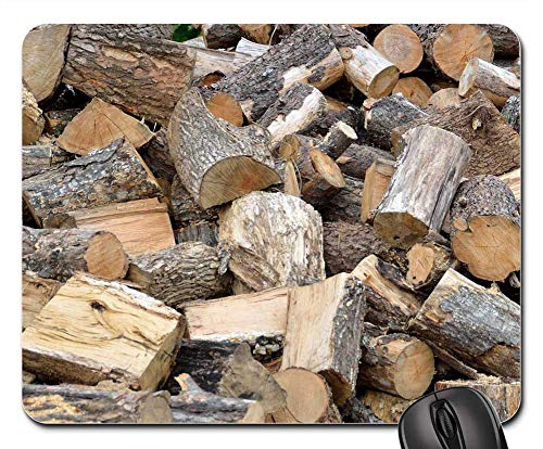 Pine Tree Firewood - Mouse Pad - Firewood Tree Log Resource Woodpile Log Stack