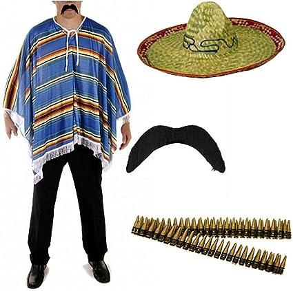 Style Wise Fashion Kit de accesorios para disfraz mexicano de ...