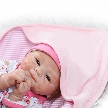 Amazon.es: Soft Mohair bebés Reborn nutrir muñecas artesanales de ...