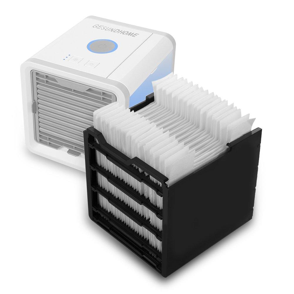 GESUNDHOME Arctic Air/ humidificateur et purificateur davec 7/Couleurs lumi/ères LED /Espace Personnel Air Cooler/ /3/en 1/Portable Mini Refroidisseur dair