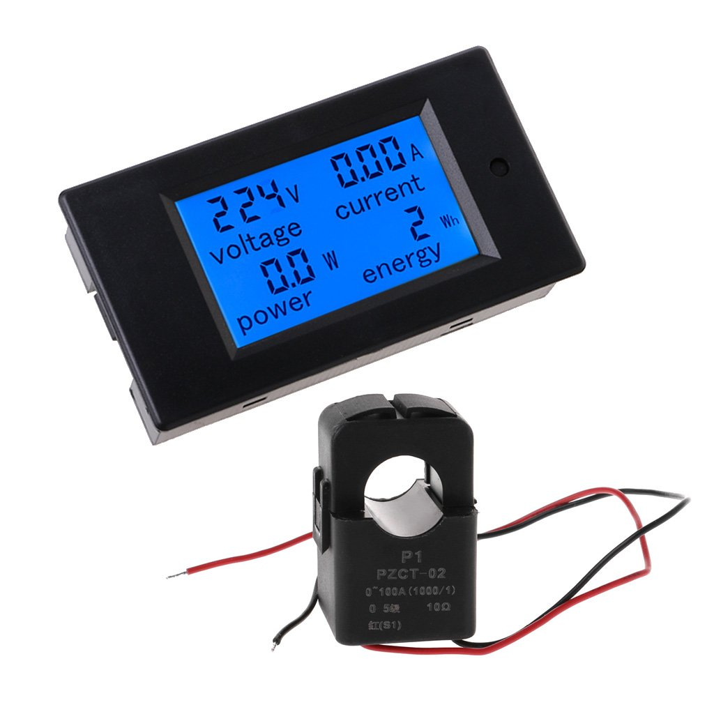 Qisuw Communication Module-Digital AC 80-260V 100A 4IN1 voltage current power energy Voltmeter Ammeter Watt Power Meter With Split CT