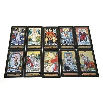 Linian 78 Tarjetas, Tarot Cards Juego de Mesa, Juego de Cartas con ...