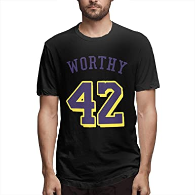 sports shoes 3d953 ee316 Amazon.com: Men's James-Worthy #42 Short-Sleeve Classic ...
