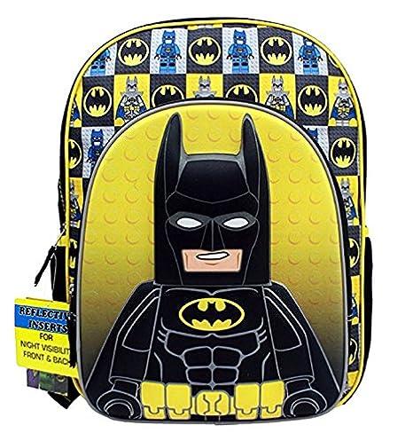 "Mochila – Lego Movie – Figura de Batman negro/amarillo 16 ""escuela bolsa"