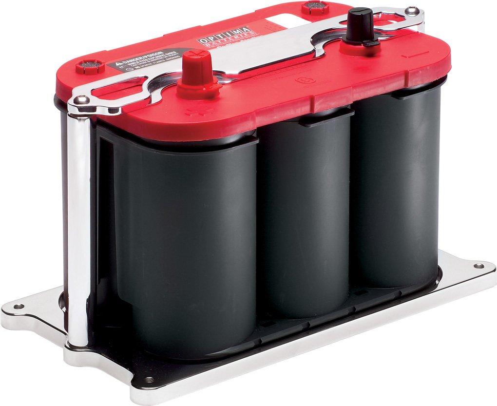 Billet Specialties 248915 Polished Optima Style Billet Battery Mount