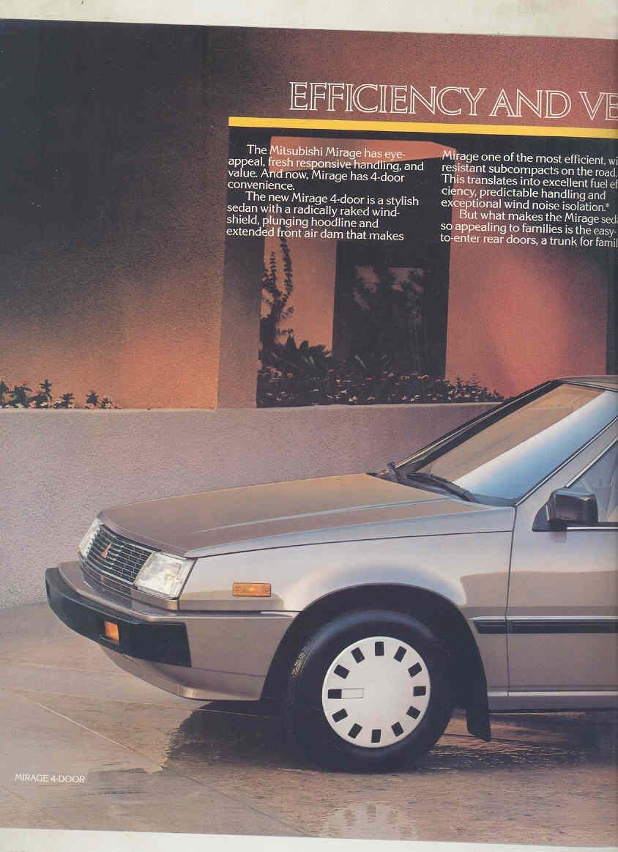 Amazon.com: 1987 Mitsubishi Mirage Turbo Brochure: Entertainment Collectibles