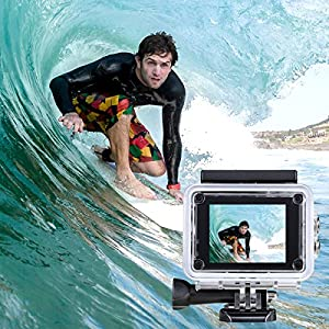 WIFI Underwater Camera HD 1080P Sports Action Cameras Waterproof Camera Diving 30M Water Camera With 2.0-Inch LCD for Kids,Motorcycle ,Biking,Riding,Racing,Skiing,Motocross And Water Sports
