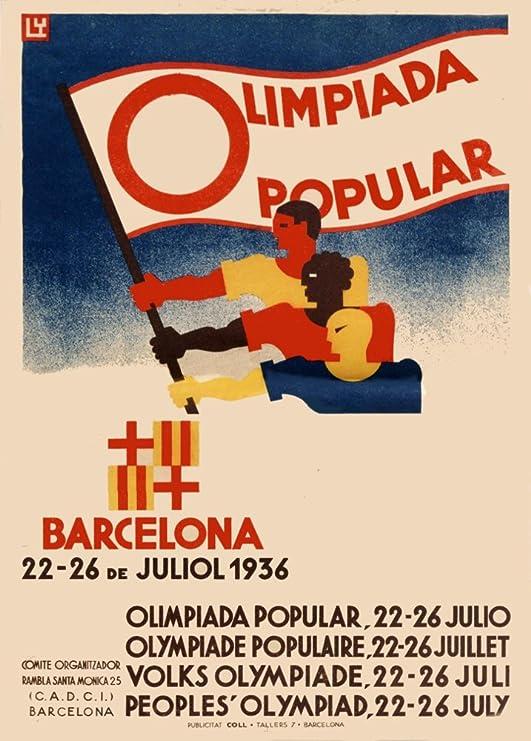 Vintage Olimpiadas 1936 juegos olímpicos de Barcelona España olimpiada Popular Español organizado por nuevo frente Popular.