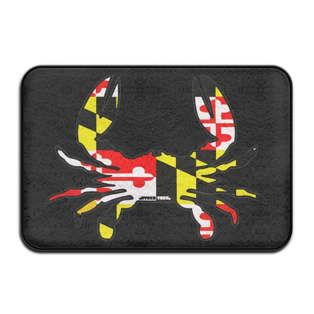 Highest Quality Materials Kitchen Mat Maryland Flag Crab Super Cozy Bathroom Rug by hipring6sk