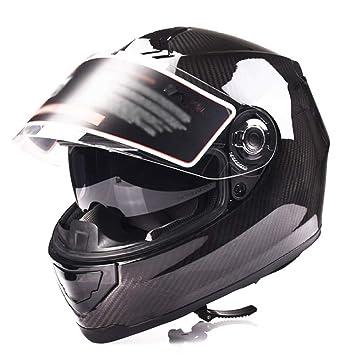 Casco de XCF, fibra de carbono, casco de la motocicleta de los hombres y