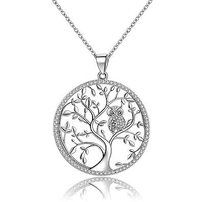 pendentif celtique arbre de vie entrelacé d'un triquetra en argent 7