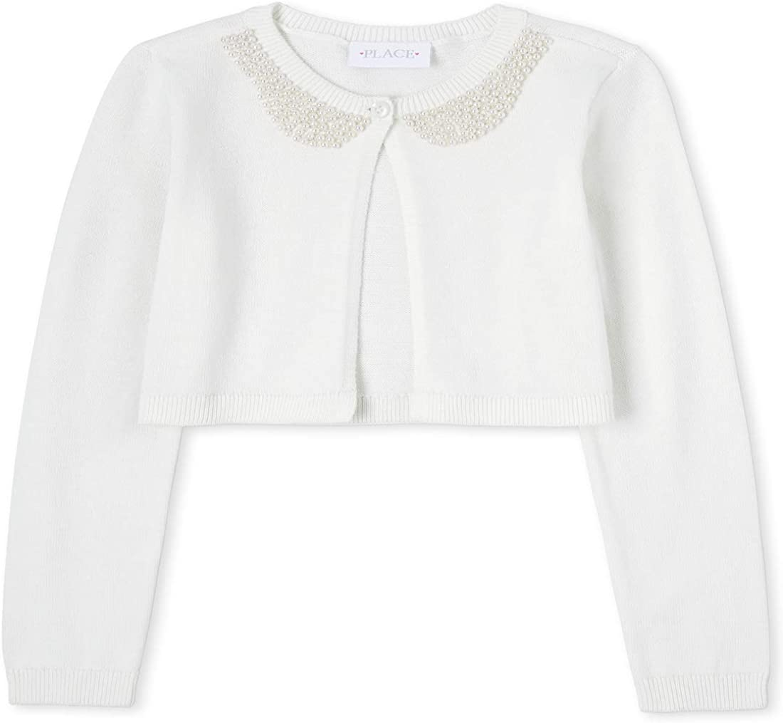 The Children's Place Girls' Embellished Cardigan: Clothing