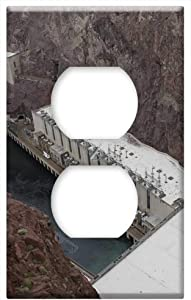 Hoover Dam Nevada Hoover Dam Power Arizona 4 -Outlet Cover Switch Plate